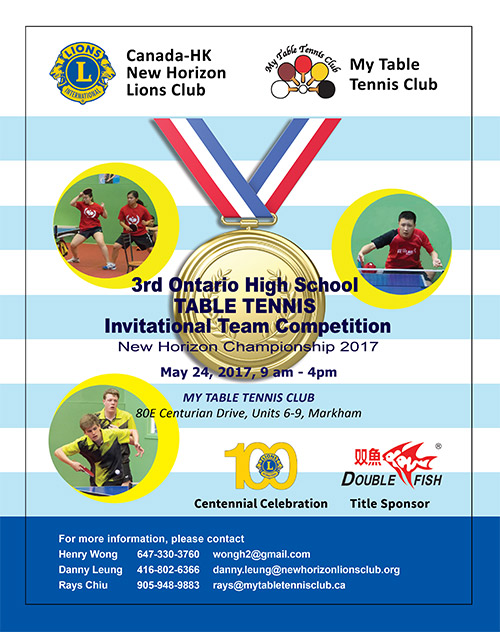 3rd Ontario High School Table Tennis Invitation Team Competition
